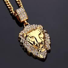 aliexpress buy nyuk new fashion american style gold nyuk rhinestone lion king pendant necklace animal vintage gold