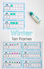 snowman winter ten frame printable fun with mama