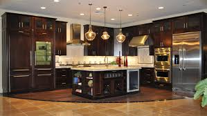 kitchen beautiful dark kitchen cabinets with light granite light
