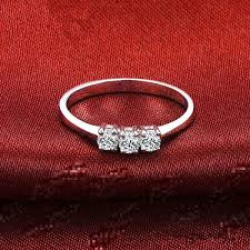 white girl rings images Solid au750 white gold ring 0 3ct lab synthetic diamonds ring gift jpg