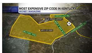Lexington Ky Zip Code Map by List Ranks Wealthiest Zip Codes In Each State Kentucky U0027s Is