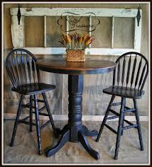 distressed bar top table and chairs before and after diy