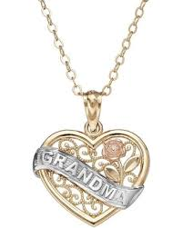 gold necklace womens images Amazing shopping savings 10k gold tri tone openwork heart