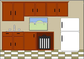 kitchen cabinets clipart