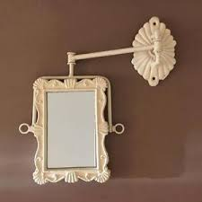 french shabby chic swivel wall mirror swing arm vintage antique