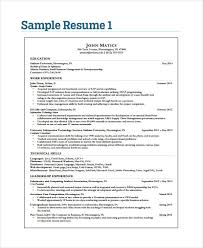 Example It Resumes by 40 Simple It Resume Templates Free U0026 Premium Templates