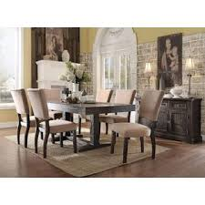acme united eliana collection salvage brown dining 7pc set dining