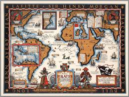 Pirates Map The Map Of Famous Pirates Buccaneers And Freebooters David