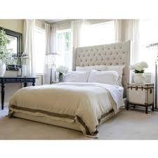 white nailhead headboard bed white leather headboard queen kelly wingback bed tall tufted