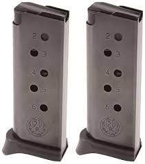 lcp extensions magazine 2 pack with finger extension for lcp 380 acp 6 rounds 36 88