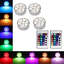 remote control battery lights 4x water resistant colour changing led lights battery amazon co uk