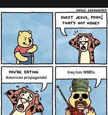 Propaganda Meme - american propaganda sweet jesus pooh that s not honey know