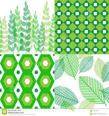 patterns in shades of green stock vector image 47207409