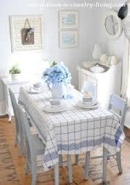 farmhouse style table cloth linen tablecloth blue vintage rose mefruşat pinterest linen
