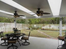 patio cover with skylights and ceiling fans patio covers