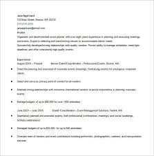 Event Planner Resume Template Brief Resume Format Brief Resume Format Resume Format Free Resume