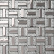 Silver Kitchen Wall Tile Backsplash Galvanized Bathroom Decoration - Stainless steel tile backsplash