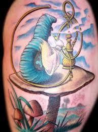 hookah smoking catapiller tattoos