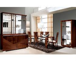 Black Lacquer Dining Room Table Modern Dining Set In High Gloss Walnut Finish 33d61