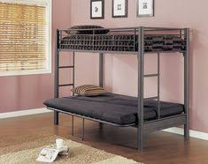 Black Metal Futon Bunk Bed Black Metal Bunk Bed With Futon Interior Paint Colors For 2017