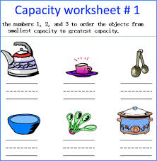 capacity worksheets for preschoolers image result for capacity