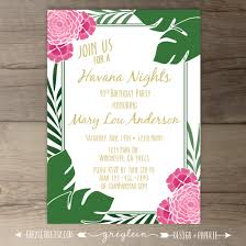 14th birthday party invitations havana nights party invitations havanna cuban theme invites