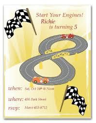 printable racecar birthday invitation template