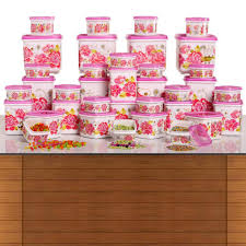 36 pc square storage set by nayasa plastic containers homeshop18