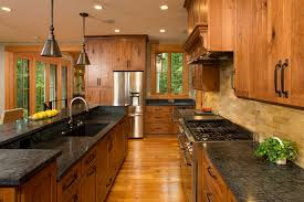 rustic kitchen cabinets with glass doors hickory kitchen cabinets rustic with contemporary mosaic