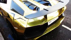 gold lamborghini chrome gold lamborghini aventador sv roadster spotted in london