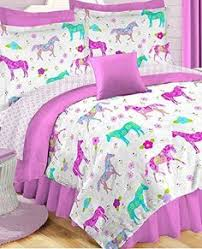 Girls Bed In A Bag by Purple Paisley Hearts Girls Full Comforter Set 8 Piece Bed In A