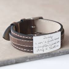 leather bracelet with sterling silver images Personalised sterling silver and leather bracelet by merci maman jpg