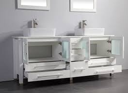 MTD Malta  Inch White Double Vessel Sinks Bathroom Vanity Solid - Bathroom vanities double vessel sink