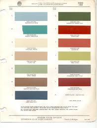 paint chips 1959 ford edsel