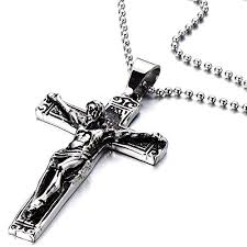 crucifix necklace mens images Stainless steel gothic crucifix cross necklace pendant jpg