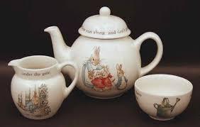 wedgwood rabbit tea set rabbit child s tea set 4 tp cr suo by wedgwood