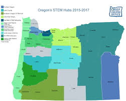 map of oregon state more stem hubs in oregon oregon coast stem hub oregon state