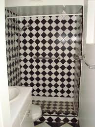 Black And White Checkered Tile Bathroom Black And White Tile Shower Descargas Mundiales Com