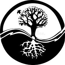 yin yang tree stock vector illustration of health 1736525