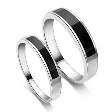 onyx wedding band black and silver wedding rings vancaro jelwery