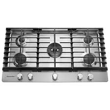 Kenmore Pro 36 Gas Drop In Cooktop Kitchenaid 36 In Gas Cooktop In Stainless Steel With 5 Burners