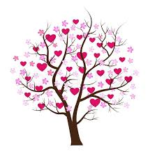design tree with hearts vector stock vector colourbox