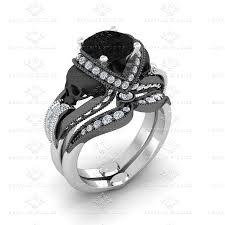 skull wedding bands skull engagement rings sapphire studios design