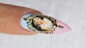 liquid jewel nail art with sticker youtube