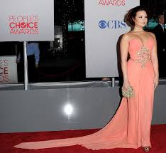 demi lovato s peachy dress people s choice awards 2012