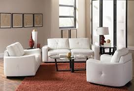 Modern Sofa And Loveseat Vibrant White Leather 2 Sofa Loveseat Set By Coaster 502711 S