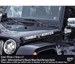 zombie hunter jeep 2x zombie hunter funny car jeep stickers 55cm jdm suv boat decals