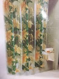 shower vinyl shower curtains dazzle transparent vinyl shower