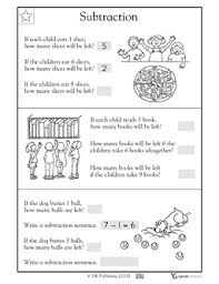 grade 1 math word problems worksheets subtraction word problems 1 oa 1 math word