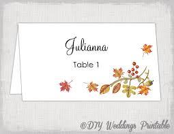 printable place card template fall name cards diy